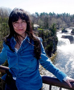 <p>Professor Margaret Bruchac, Native American Studies coordinator at Avery Point, at Ausable Chasm, N.Y. Photo by Justin Kennick</p>