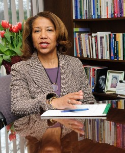 <p>Salome Raheim, dean of social work. Photo by Peter Morenus</p>