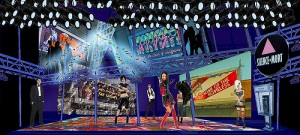 <p>Rendering of CRT's Rent by scenic designer Michael Anania. Provided by CRT </p>