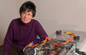 Quing Zhu, professor of electrical and computer and engineering. (Peter Morenus/UConn Photo)