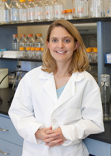 Stormy Chamberlain, assistant professor of genetics and developmental biology at the Health Center, is a researcher on one of the UCIG-funded teams. (Lanny Nagler for UConn)