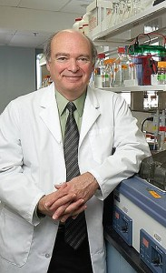 Mark Lalande in his lab at the Health Center.
