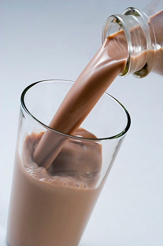 <p>Chocolate milk.</p>