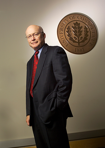 Dr. John W. Rowe, chairman of the Board of Trustees 2003-2009. (Paul Horton for UConn)