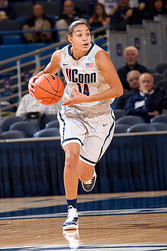 <p>Freshman Bria Hartley. Photo by Steve Slade</p>