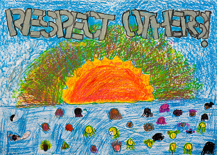 <p>Submissions to a poster contest for the UConn Martin Luther King Jr. Day. Artwork by Jadaisha M. Ramos, American School for the Deaf, grade 6.</p>
