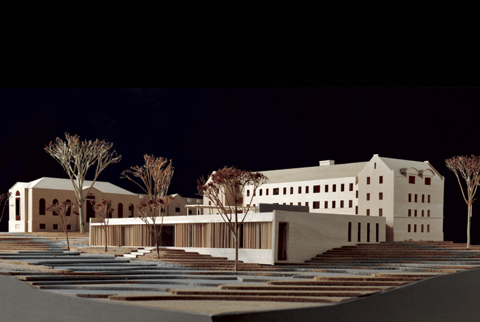<p>Architect'sl building model of the Widmer Wing, School of Nursing. Groundbreaking is scheduled for April 13, 2011. Courtesy of UConn School of Nursing.                        </p>