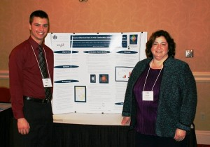 Fourth-year pharmacy student Kevin Crozier and Dr. Ruth Goldblatt.