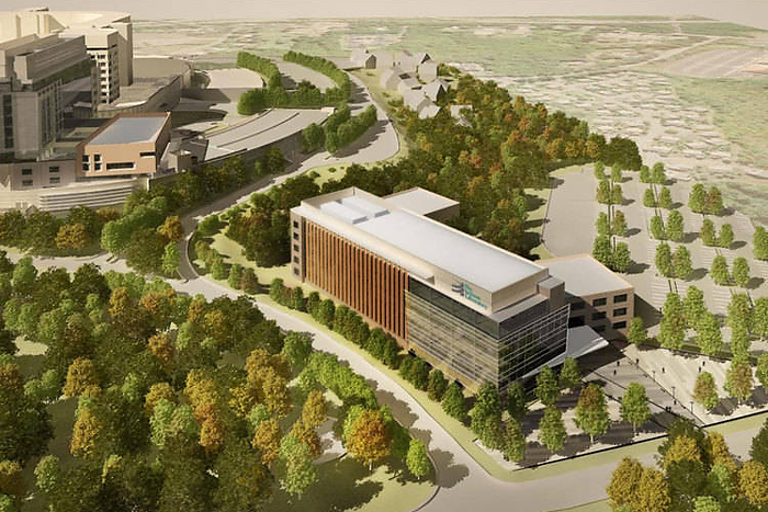 The Jackson Lab will eventually feature 250,000 square feet of state-of-the-art lab space on the Health Center campus. (Image provided by State of Connecticut)