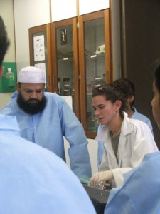 Bogomolni works with veterinary students at the University of the West Indies School of Veterinary Medicine, which focuses on exotic diseases and wildlife.