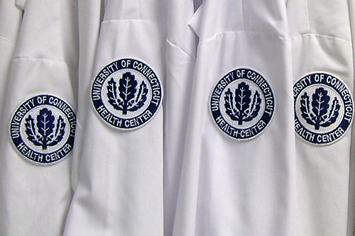 White Coats with UConn Health Center emblem