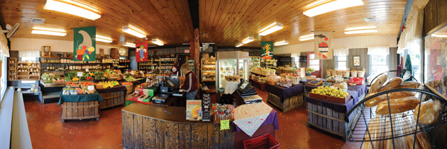 The Holmberg Orchards retail store in Gales ferry offers locally produced foods and wine. (Peter Morenus/UConn Photo)