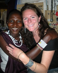 Greta Scheibel with a Tanzanian friend