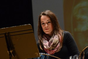 Luci Chaplin performs at the Steel Pan Ensemble recital. (Ariel Dowski '14 (CLAS)/UConn Photo)