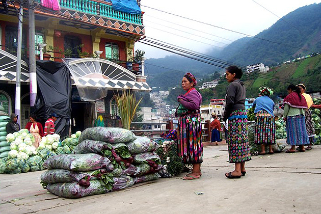 The town of Zunil is the location of one of Central America's most important wholesale markets. (Rachael Shenyo Photo)
