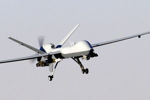 An unmanned aerial vehicle, commonly known as a drone. (Wikipedia.org)