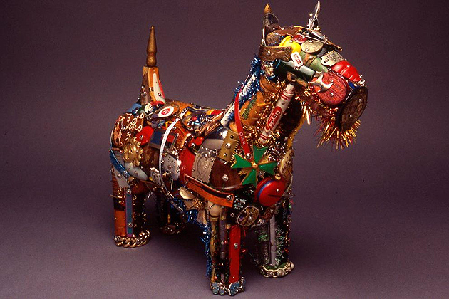 "Leo Sewell's ""Scotty"", mixed media (photo courtesy of William Benton Museum of Art)"