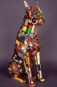 'Boxer,' mixed media. (Benton Museum of Art Photo)