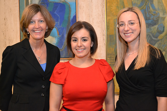 Linda Choquette, Dr. Tessa Balach, and Dr. Erica Lambert join the Health Center roster of cancer care providers. (Tina Encarnacion/UConn Health Center Photo)