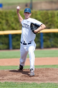Senior Pitcher David Fisher '12 (CLAS) has struck out 43 batters in 2012. (Steve Slade '89 (SFA) for UConn)