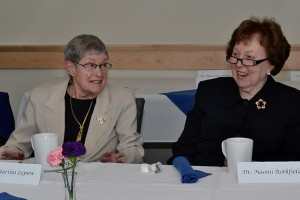 Founding faculty members, Drs. Martha Lepow and Naomi Rothfield, were honored during the School of MedicineÕs Group on Women in Medicine and Science Inaugural Ceremony April 30, 2012. (Tina Encarnacion/UConn Health Center Photo)