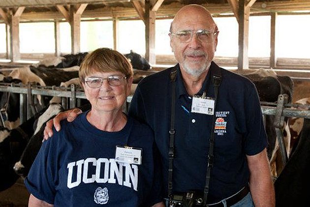 Joe and Patricia Krzanowski at Alumni Weekend (Photo courtesy of the UConn