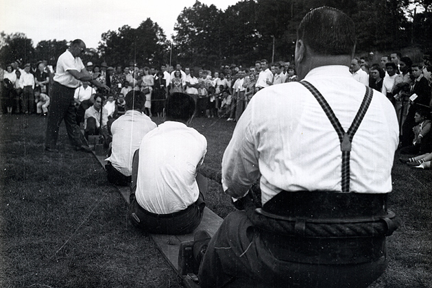 Bristol Brass Co. workers at a summer outing, ca. 1950. (Archives & Special Collections, Thomas J. Dodd Research Center)