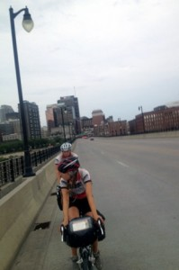 Nate Windon follows Melina Benson over the Mississippi River on Day 37.