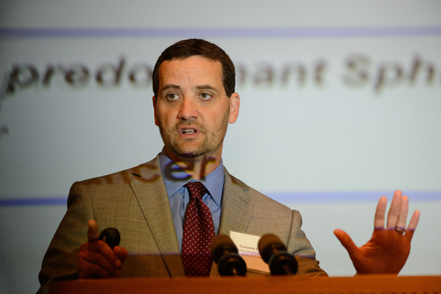 Fernando Ferrer, associate professor of surgery and pediatrics, UConn School of Medicine. (Peter Morenus/UConn Photo)