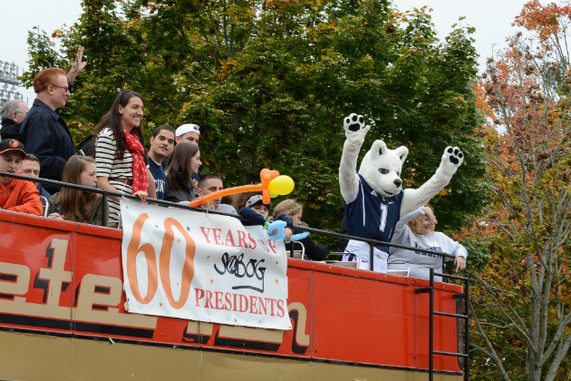 The 2012 Homecoming Parade celebrated 60 years of SUBOG.