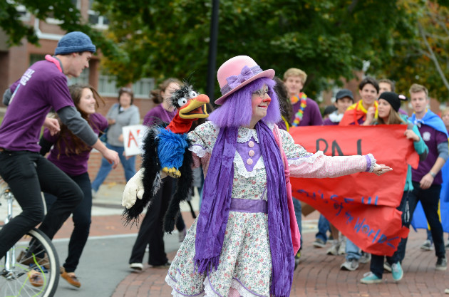 Music, marchers, and colorful characters were Homecoming parade highlights.