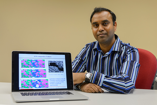 Avinash Dongare, associate professor of materials science on Oct. 23, 2012. (Peter Morenus/UConn Photo)