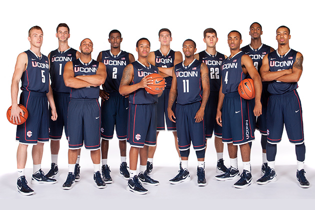 The 2012-2013 Men's Basketball Team (Photo courtesy of Division of Athletics)