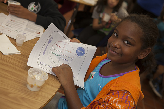 The USDA's food plate makes it easy for children to understand healthy eating. (Photo courtesy of Meriden Board of Education)