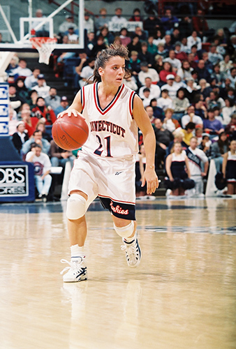 nnifer Rizotti played for UConn from 1992-1996. She will be inducted into the Women's Basketball Hall of Fame for her career as a player. (UConn Athletic Communications)