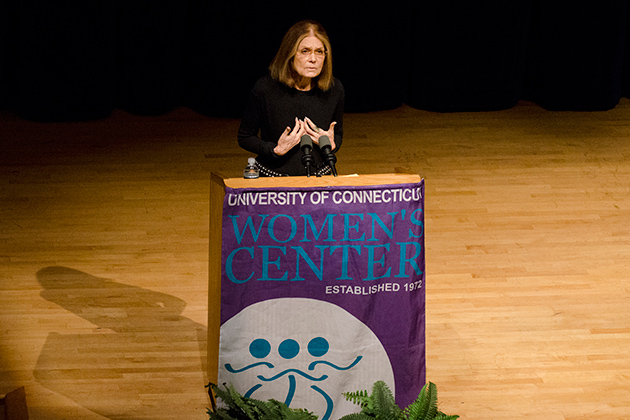 Steinem's talk was part of the Women's Center's 40th anniversary celebration. (Ariel Dowski '14 (CLAS)/UConn Photo)