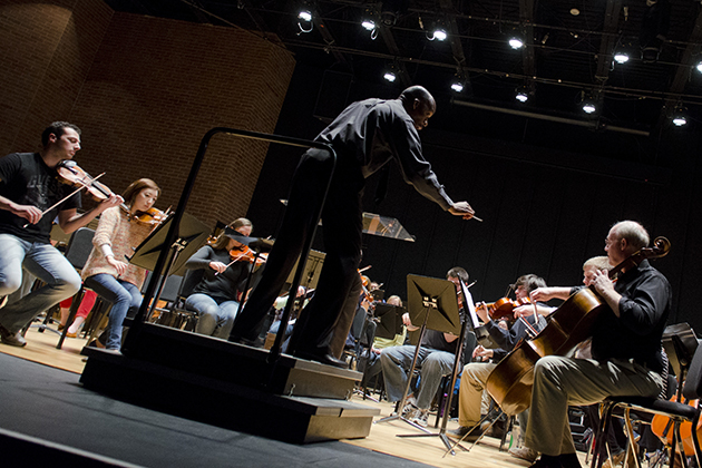 Harvey Felder says generational diversity is critical in symphonic music. (Ariel Dowski '14 (CLAS)/UConn Photo)