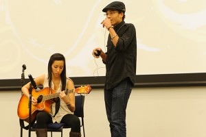 A musical performance by Tang and Mychi was a highlight of  the Lunar New Year Celebration. (Max Sinton '15 (CANR)/UConn Photo)