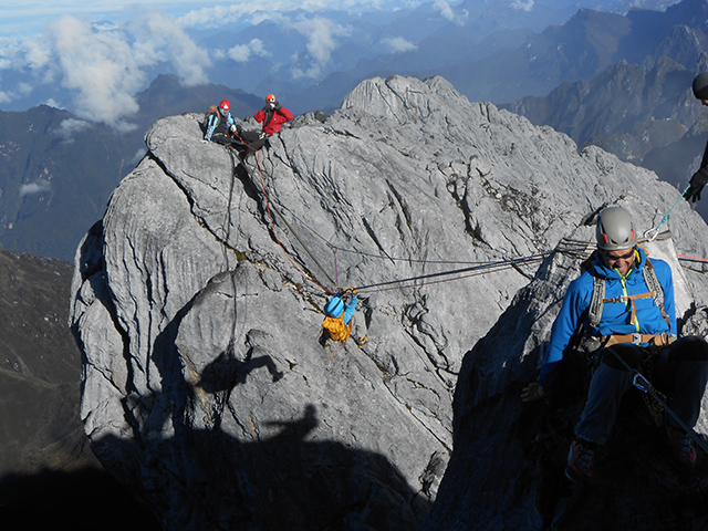 Climbing Indonesia's Carstensz Pyramid in 2012.