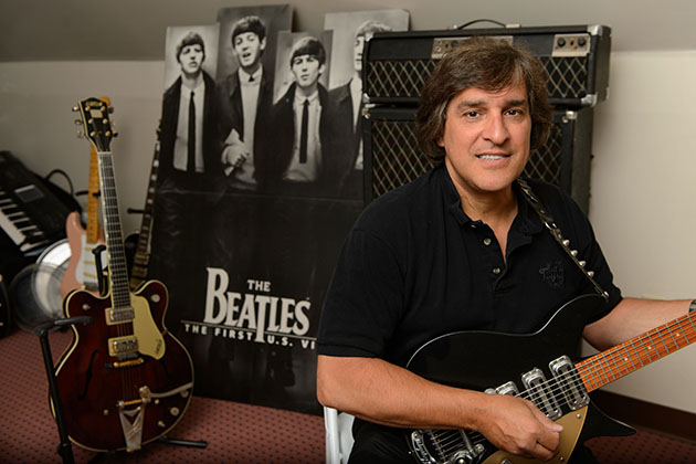 Carlo Cantamessa portrays John Lennon in the tribute show 'The Cast of Beatlemania.' (Peter Morenus/UConn Photo)