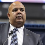 Director of Athletics Warde Manuel. (Peter Morenus/UConn Photo)