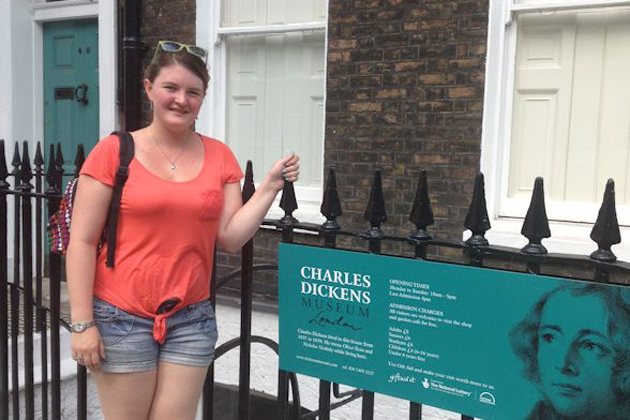 A visit to the Charles Dickens Museum was a highlight for English major Alexandria Bottelsen '16 (CLAS) (Photo courtesy of Alexandria Bottelsen)