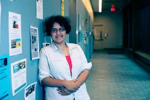 Selina Benitez poses for a photo at Oak Hall on Sept. 10, 2013. (Peter Morenus/UConn Photo)