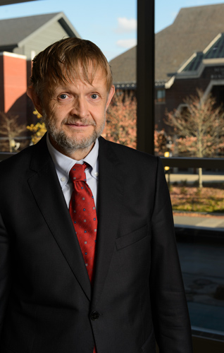 Jerzy Weyman joined UConn this fall as the Stuart and Joan Sidney Professor in Mathematics. (Peter Morenus/UConn Photo)