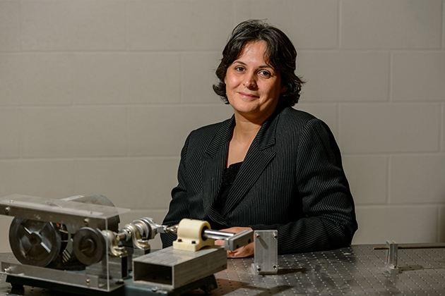 Leila Ladani, associate professor of mechanical engineering on Nov. 7, 2013. (Peter Morenus/UConn Photo)