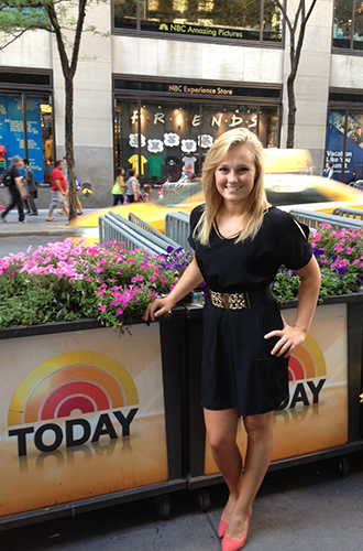 Levesque during her summer 2013 internship at the NBC Weekend Today show in New York City. (Photo courtesy of Gabrielle Levesque)