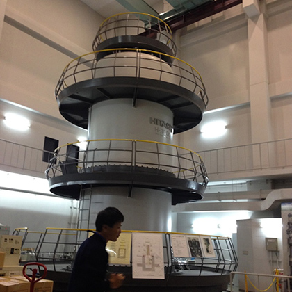 The ultra-high voltage electron microscope at Osaka University. (Photo courtesy of Anson Ma)