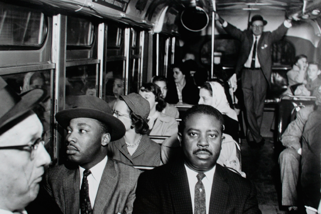 "Ernest C. Withers. ""First Desegrated Buss Ride,"" 1956. The William Benton Museum of Art."