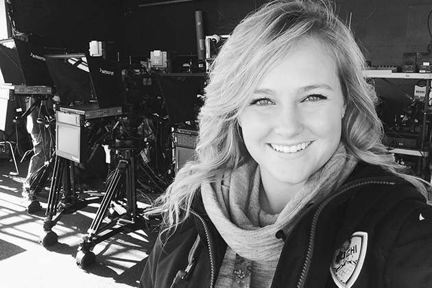 Levesque will be one of 16 production runners for the Today show. One of eight American and eight international students, she was selected from a large group of former NBC interns.  (Photo provided by Gabrielle Levesque)