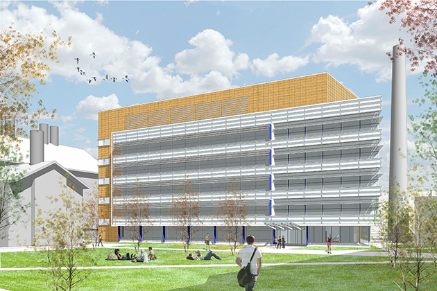 An artist's rendering of the proposed new Engineering Complex.